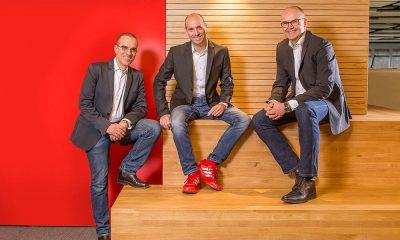 Martin Berger, Firmengründer Thomas Riedel und Frank Eischet (.l.) | © Riedel