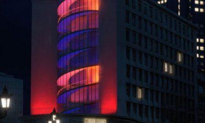 Juniorhaus in Frankfurt mit Licht-Installation von Gunther Hecker