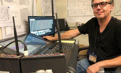 Alles unter Kontrolle am Set: Scott Webb und seine Road Hog 4-Konsole