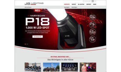 Neuer Webauftritt von JB Lighting
