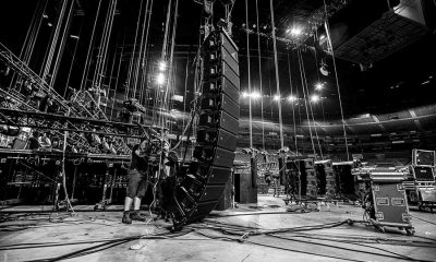 line array being rigged