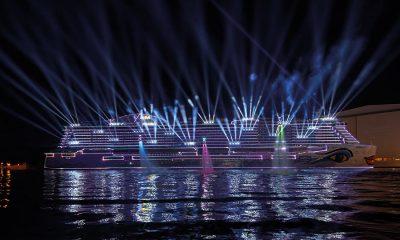 300 GLP KNV, 100 Ehrgeiz Fusion2 Sticks und 112 Elation Proteus Hybrid und der Aufbau einer schiffsweiten Netzwerk Infrastruktur bildeten die Grundlage für den großen Auftritt AIDAnova. # © Manfred H. Vogel