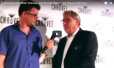 Thomas Fischer von Chauvet Germany (rechts) im Interview mit Markus Wilmsmann von mothergrid.
