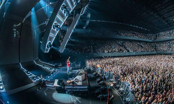 """72 Meyer Sound LEO Elemente waren unter anderem im Soundsystem der """"Divide"""" Tour von Ed Sheeran verbaut. # © Ralph Larmann"""