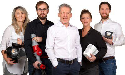 Das Team von Vision Two: Natalie Schnatmann, Christoph Grauting, Claas Ernst, Anke Schierenbeck, Christian Brose (v.l.n.r.)