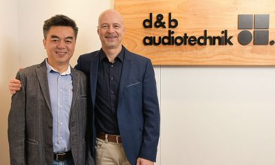 Daniel Chan (Managing Director (CEO) der d&b audiotechnik Greater China Ltd.) und Amnon Harman (CEO der d&b audiotechnik Gruppe) v.l.