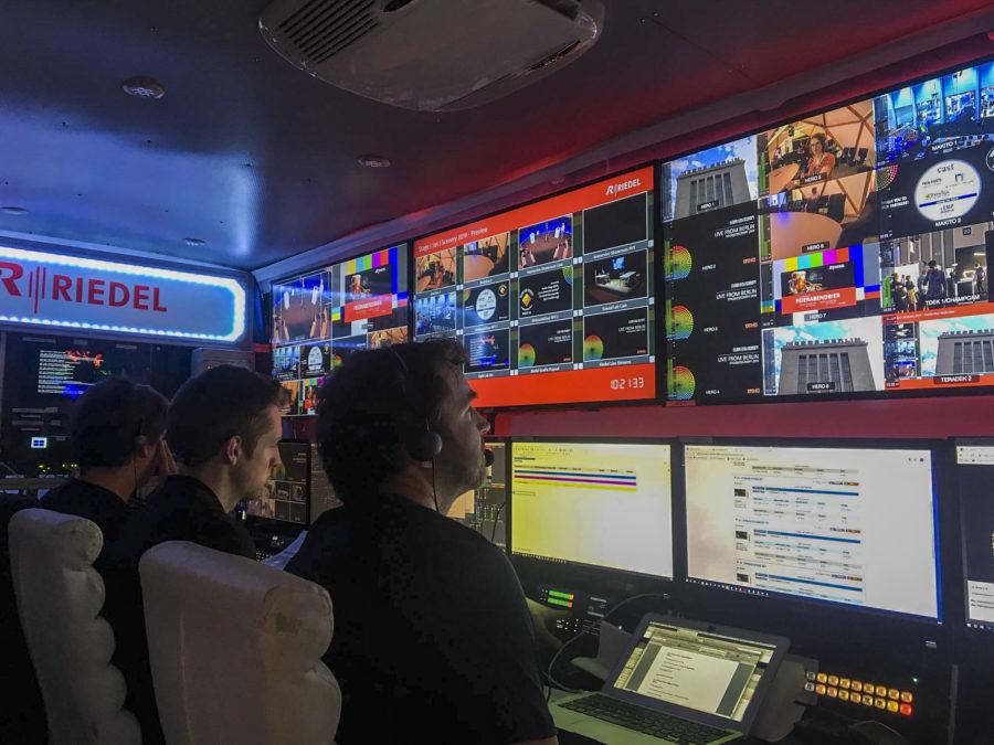 Streamingmobil von Riedel Communications