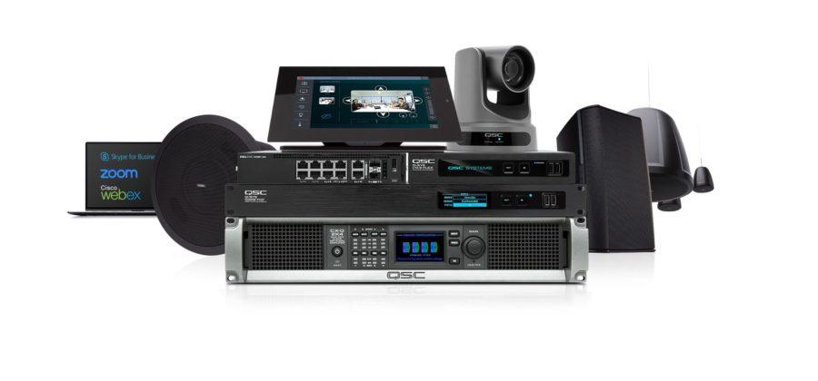 Das Q-SYS Ecosystem ist laut QSC die einzige Software-basierte, nativ integrierte, also auf Standard IT-Hardware und Netzwerk-Infrastruktur aufsetzende Audio-, Video- und Steuerungs-Plattform.