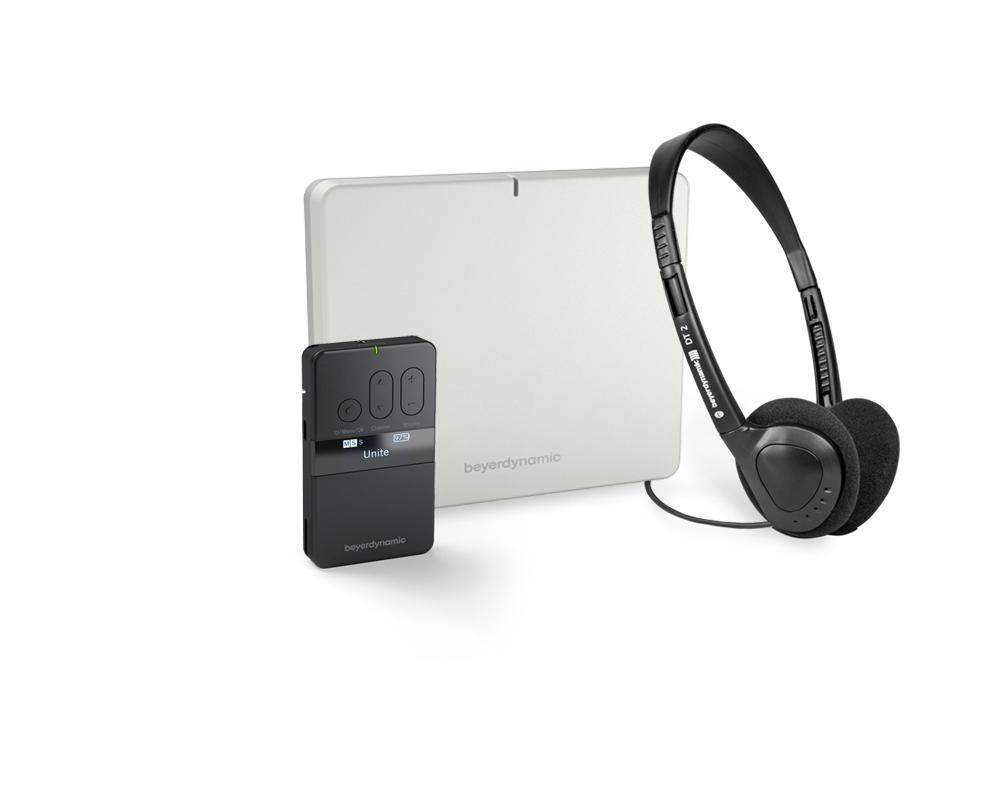 Unite AP4 Access Point mit Unite RP Taschenempfänger und DT2 Kopfhörer. # @ beyerdynamic