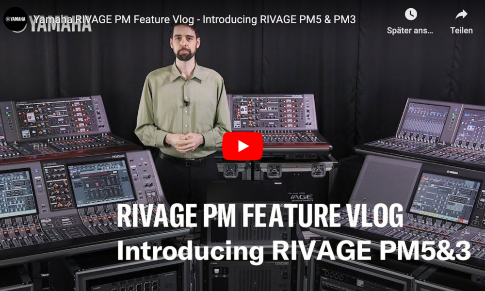 Yamaha is proud to introduce the new RIVAGE PM5 and PM3, which offer the same operability and impeccable sound character as the PM7 and PM10.