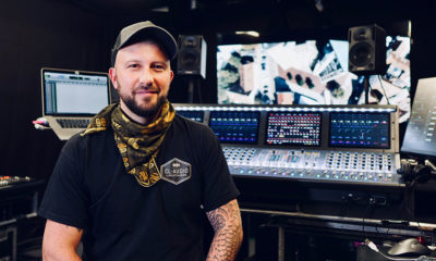 Claudio Malaguti von CL-Klangoptimierung mischt die Autokino-Konzerte von Alligatoah.