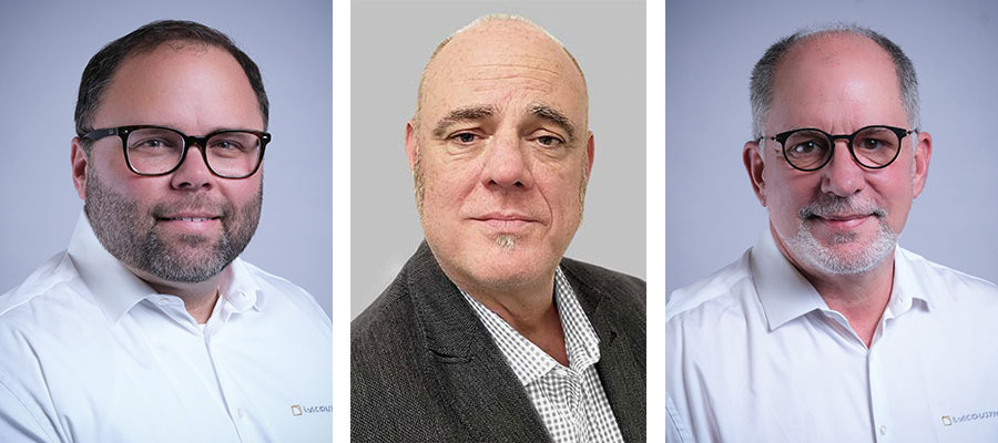 L-Acoustics Team America: B.J. Shaver, Alan Macpherson und William Cornell (v.l.)