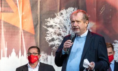 Prof. Jens Michow vom BDVK am vergangenen Mittwoch auf der#alarmstuferot-Demo. © Uwe Müller Photography