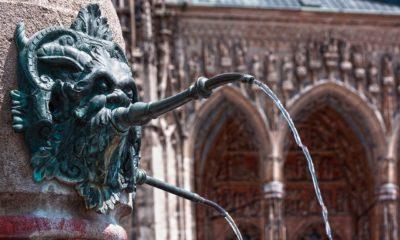 Der Löwenbrunnen in Ulm. Hier sollte die 60. BTT stattfinden.