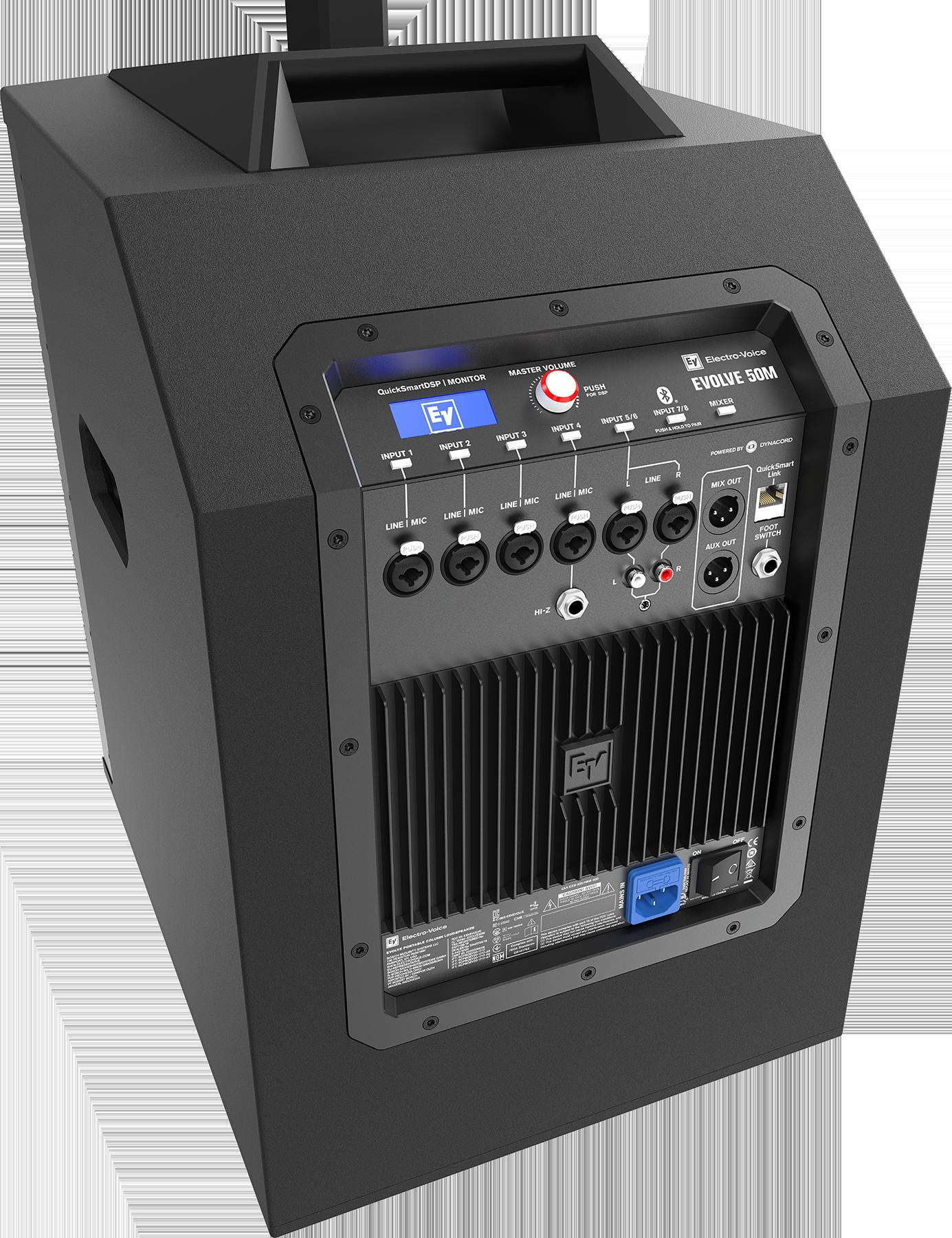 Integriert ist ein voll konfigurierbarer 8-Kanal-Digitalmixer in Vollausstattung, der in Zusammenarbeit mit dem Engineering-Team der Geschwistermarke Dynacord entwickelt wurde.
