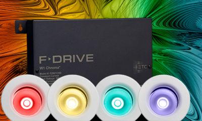 F-Drive W1 Chroma erweitert das preisgekrönte F-Drive LED-Power-System – und bietet kompakte Steuerungsmöglichkeiten für farbwechselnde LED-Leuchten.