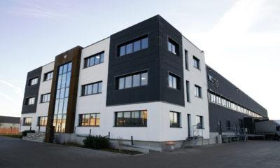 Das Firmengebäude von Wilhelm & Willhalm in Aschheim bei München.