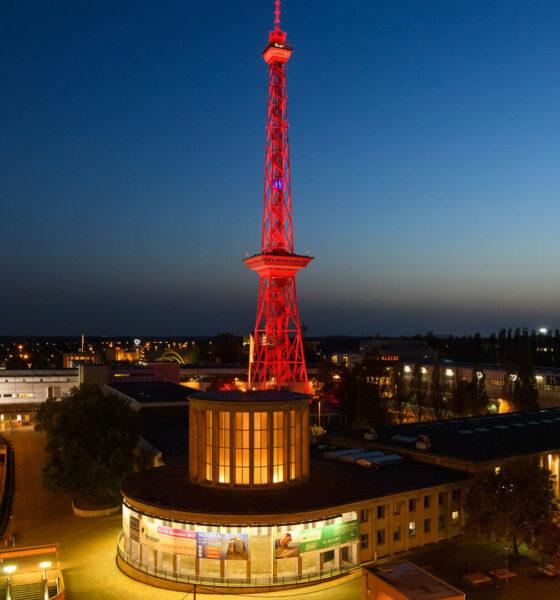 An der Night of Light 2020 war auch die Messe Berlin beteiligt. © Messe Berlin