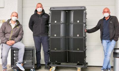 Steffen Luuk (Sales Manager DACH, L-Acoustics), Phillip Wallraf (Inhaber, Wallraf Veranstaltungstechnik), Jürgen Höcker (Außendienst, Babbel & Haeger) (v.l.)