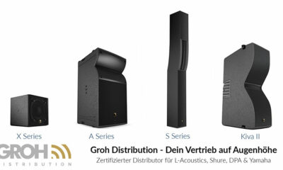 Präsentiert werden die X-Serie, die A-Serie, die S-Serie und Kiva II von L-Acoustics.