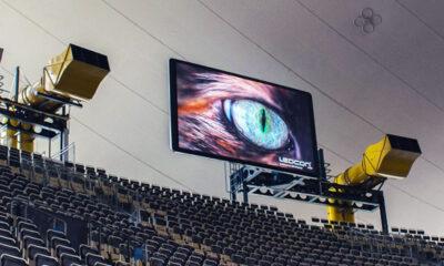 Zukünftig erwartet alle Besucher beim Betreten der inneren multifuntkionalen Eventstätte das neue digitale Highlight mit insgesamt 190qm² LED-Screenfläche.
